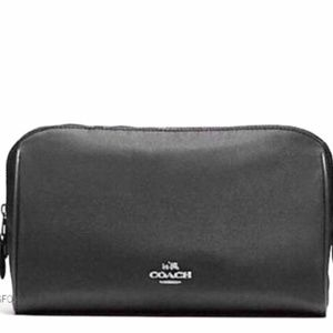 NWT Coach Cosmetic Makeup Nylon Weekend Case Bag
